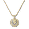GOLD Lion Head Circle Pendant Necklace - URBANCREWS