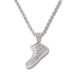 SILVER Shoe Pendant Necklace - URBANCREWS