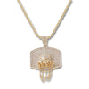 GOLD Basketball Backboard Pendant Necklace - URBANCREWS