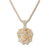 GOLD Lion Face Pendant Necklace - URBANCREWS