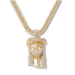 GOLD Jesus Pendant Necklace - URBANCREWS