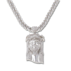 SILVER Jesus Pendant Necklace - URBANCREWS