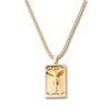 GOLD Jesus Cross Pendant Necklace - URBANCREWS