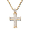 GOLD Diamond Cross Pendant Necklace - URBANCREWS