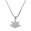 SILVER Weed Pendant Necklace - URBANCREWS