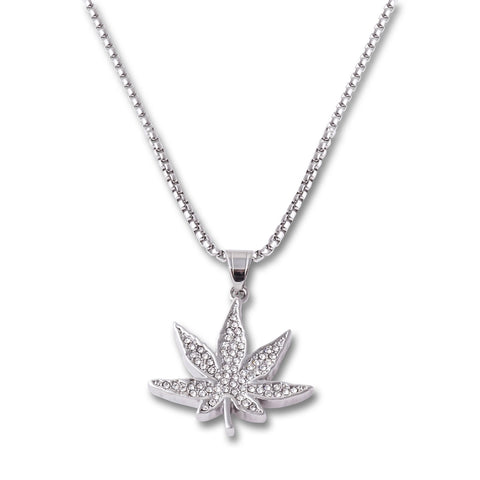 Weed Pendant Necklace