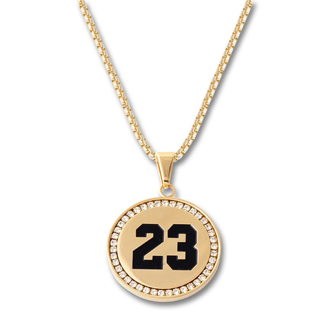 """23"" Circle Pendant Necklace"
