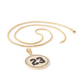 GOLD 23 Circle Pendant Necklace - URBANCREWS