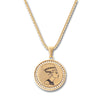 GOLD Egyptian Bust Circle Pendant Necklace - URBANCREWS
