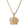 GOLD Crown Pendant Necklace - URBANCREWS