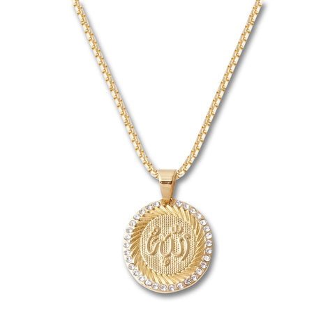 Arabic Letters Circle Pendant Necklace