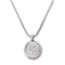 SILVER Arabic Letters Circle Pendant Necklace - URBANCREWS