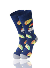 NAVY The Taco Stand Novelty Socks - URBANCREWS