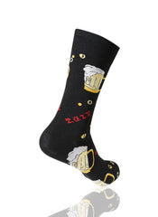 BLACK T.G.I.F. Novelty Socks - URBANCREWS
