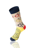 YELLOW The Biker Novelty Socks - URBANCREWS