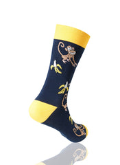 NAVY The Monkey Novelty Socks - URBANCREWS