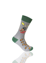 GRAY Game Day Novelty Socks - URBANCREWS