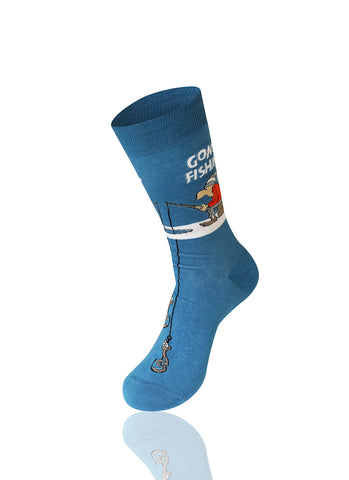 Gone Fishin' Novelty Socks