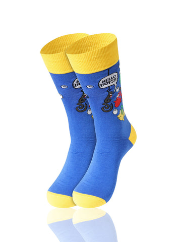 Hello Boys Novelty Socks