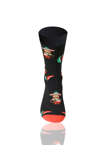 Black Chili Novelty Socks