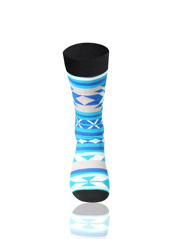 Light Blue Southwest Novelty Socks