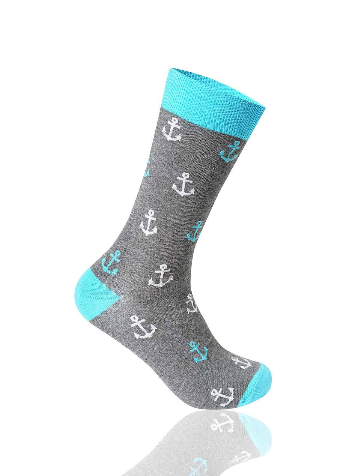 GRAY Anchor Novelty Socks - URBANCREWS