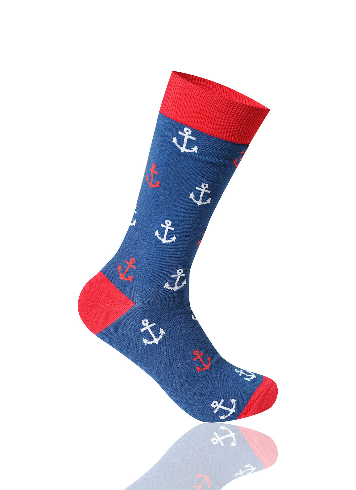 NAVY Anchor Novelty Socks - URBANCREWS