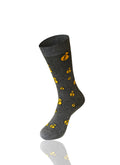 GRAY Money Bag Novelty Socks - URBANCREWS