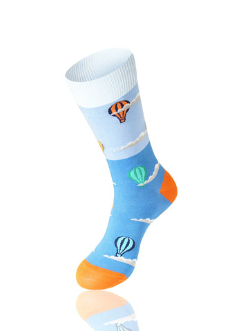 Hot Air Balloon Novelty Socks