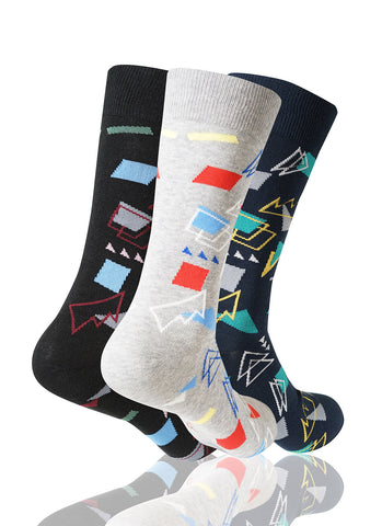 Triangles 3 Pack Novelty Socks