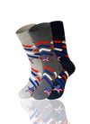 ASSORTED Star Spangled 3 Pack Novelty Socks - URBANCREWS
