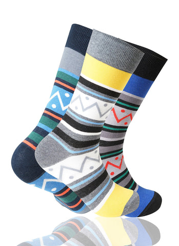 Zig Zag 3 Pack Novelty Socks