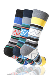 ASSORTED Zig Zag 3 Pack Novelty Socks - URBANCREWS