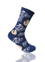NAVY 100 Emoji Crew Socks - URBANCREWS