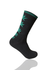 BLACKGREEN Mad Toro 5 Leaves Graphic Socks - URBANCREWS