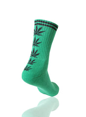 GREENBLACK Mad Toro 5 Leaves Graphic Socks - URBANCREWS