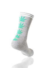 GRAYGREEN Mad Toro 5 Leaves Graphic Socks - URBANCREWS