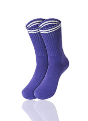PURPLEWHITE Mad Toro 5 Leaves Graphic Socks - URBANCREWS