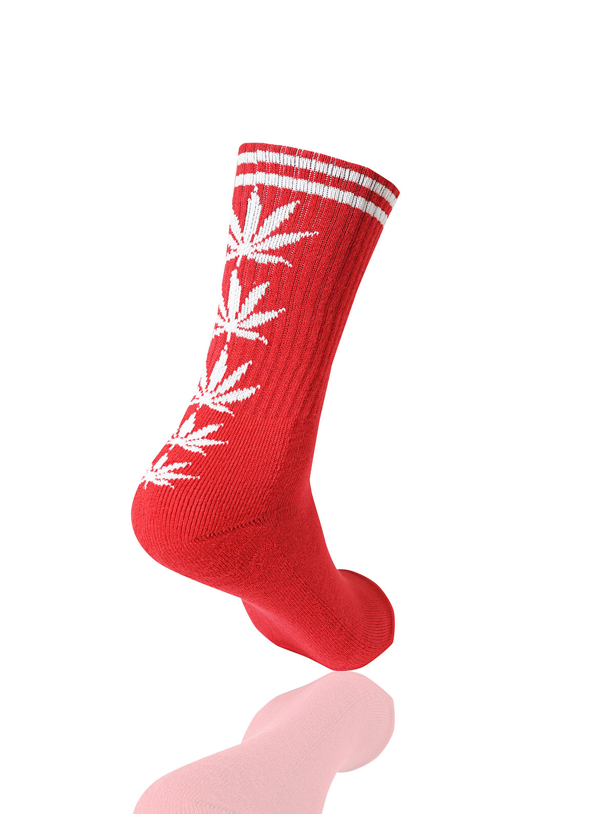 REDWHITE Mad Toro 5 Leaves Graphic Socks - URBANCREWS