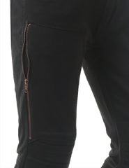 BLACK Skinny Fit Jeans w/ Zipper Trim - URBANCREWS