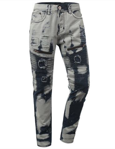 Slim Taper Fit Biker Jeans