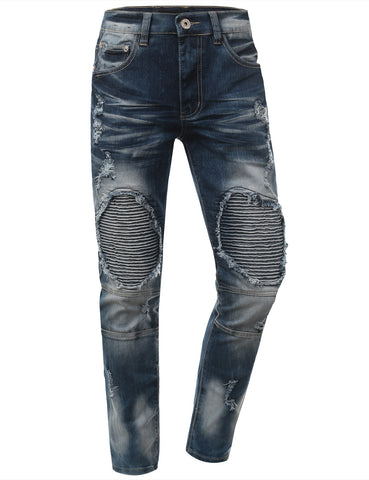 Skinny Fit Fashion Biker Jeans