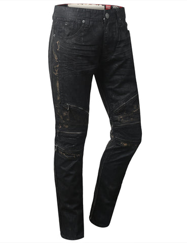 Coated MC Slim Straight Denim Jeans