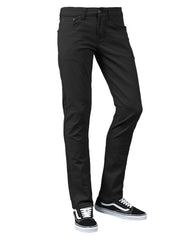 BLACK Skinny Fit Color Stretch Jeans - URBANCREWS