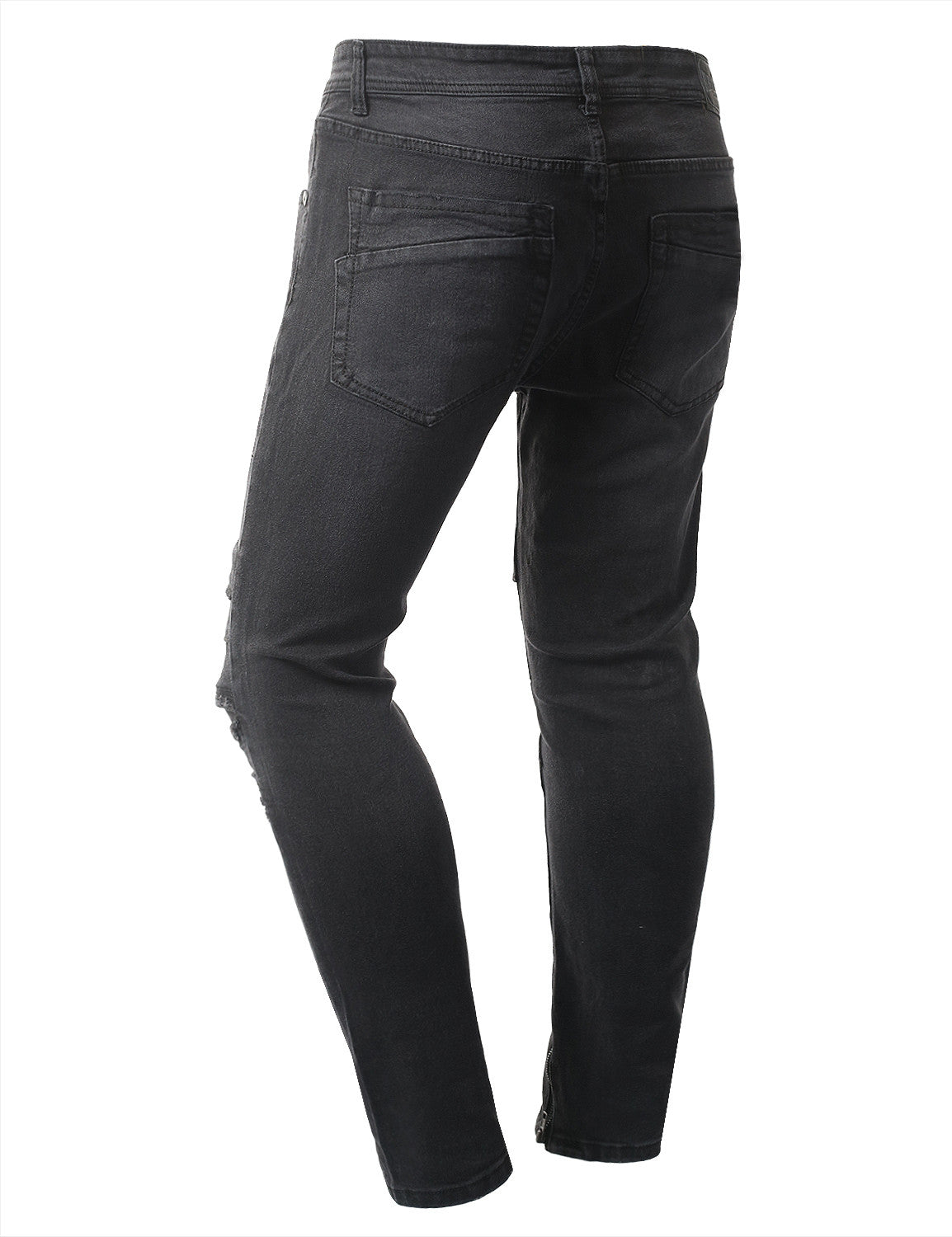 BLACK Premium Denim Ankle Skinny Jeans - URBANCREWS