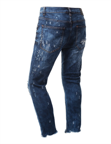 Premium Frayed Hem Ankle Denim Jeans