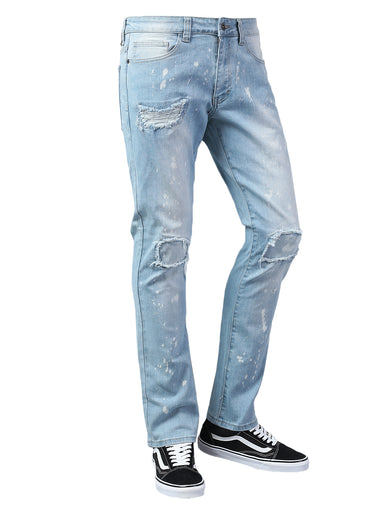 Paint Splash Accent Slim Fit Jeans