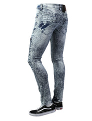 ICEWASH Ripped Moto Skinny Fit Denim Jeans - URBANCREWS