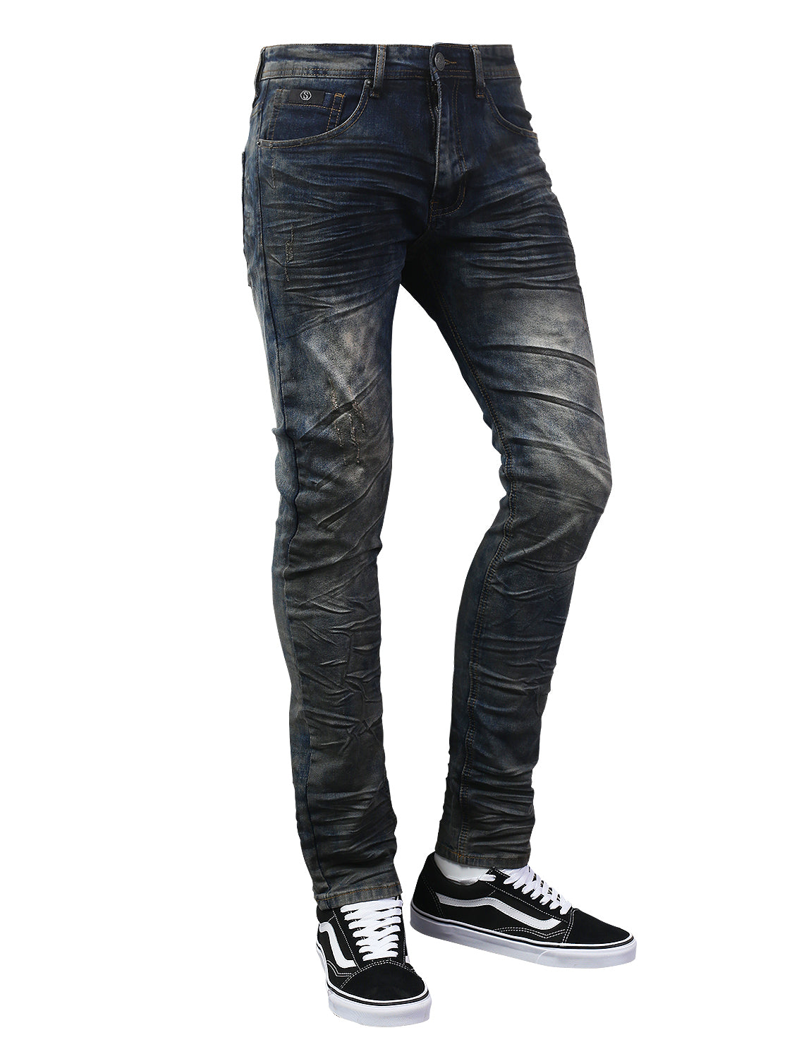 BKINDIGO Basic Washed Denim Jeans - URBANCREWS