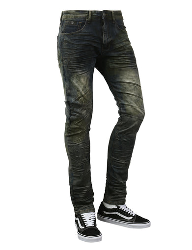 Basic Washed Slim Tapered Denim Jeans